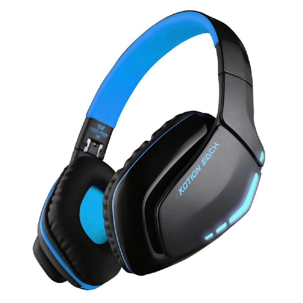 【KOTION EACH】 因卓B3506無線藍牙頭戴式耳機 (黑藍色)