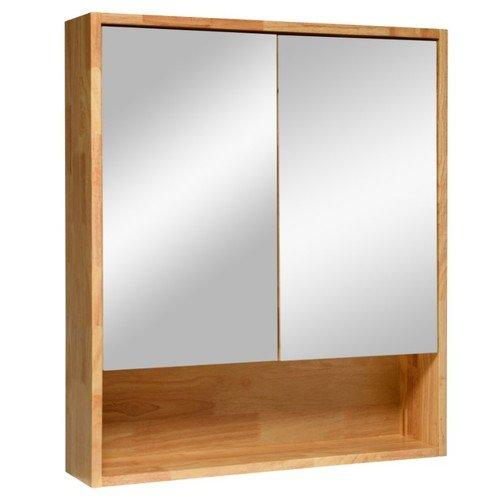 (Cozy)營鏹衛浴 雙面鏡櫃 鏡箱 橡木 鄉村風浴室鏡櫃 衛浴化妝鏡 尺寸:寬70*深15*高80cm GR-7080