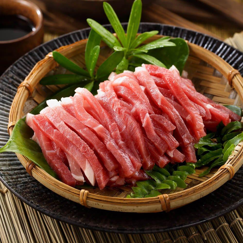 任選【有心肉舖子】豬後腿肉絲(300g/包)