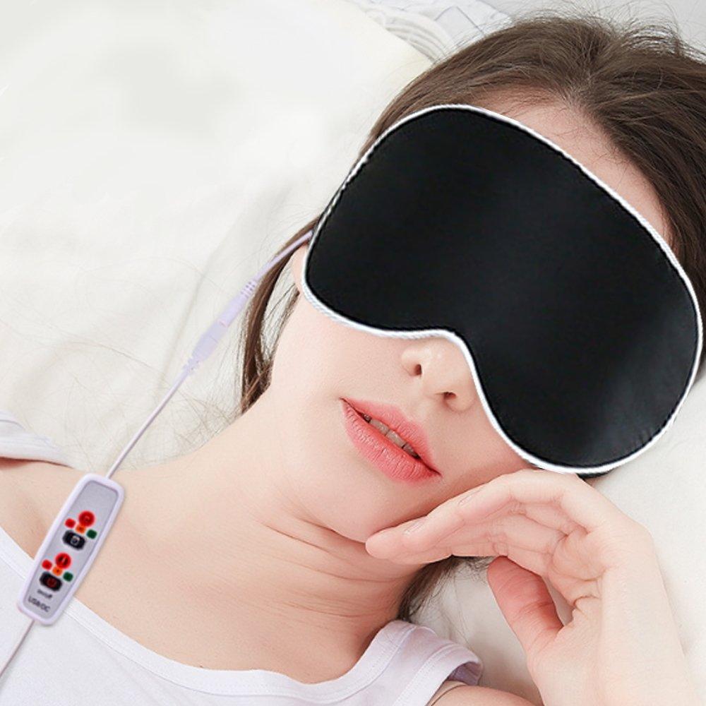 【APEX】USB三段絲質恆溫熱敷眼罩(加贈冷敷袋/耳塞)