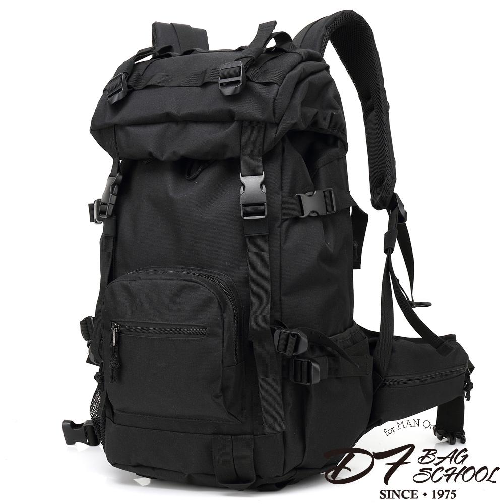 DF BAGSCHOOL - 荒野大地尼龍款大容量後背包-黑色