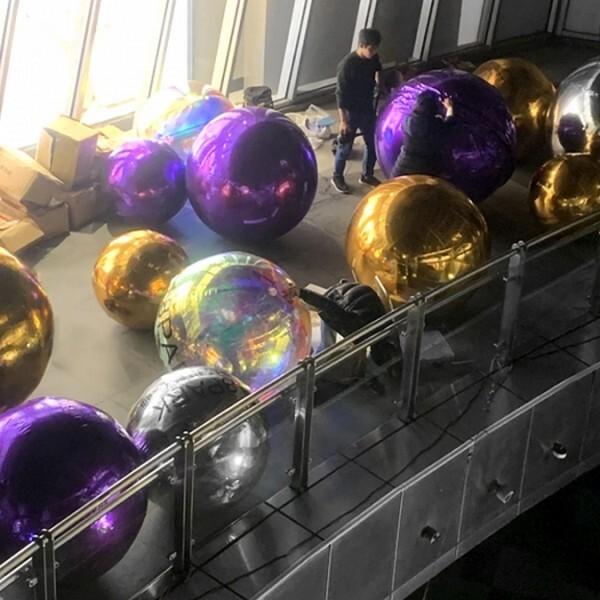 18park-魔鏡鏡面pvc氣球 [150cm,金色]