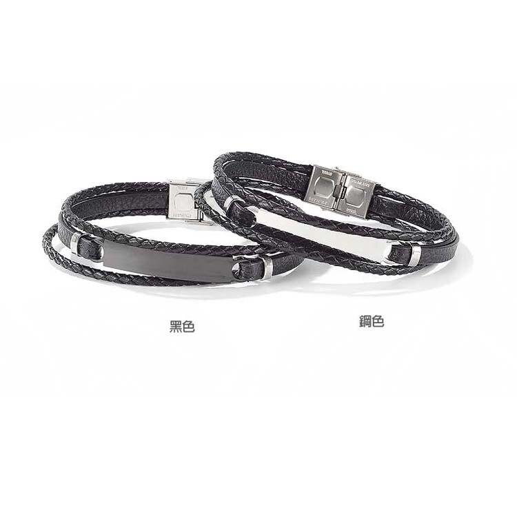【5折超值價】潮流時尚編織造型男款鈦鋼皮手環