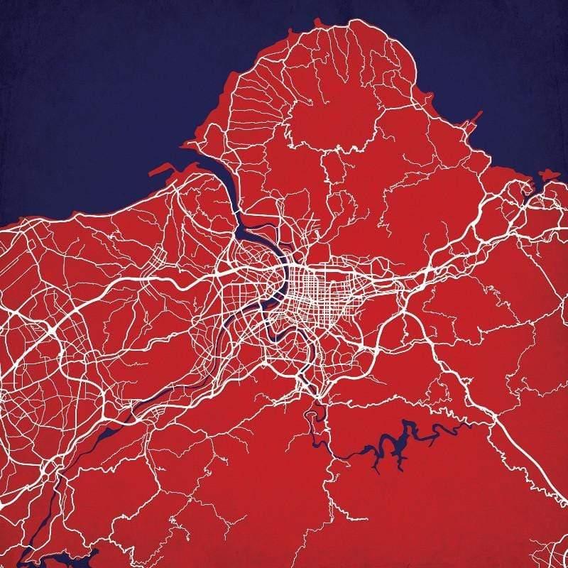 美國City Prints 城市掛畫 (任選二款超值組) i.西班牙巴塞隆納 / j.德國柏林