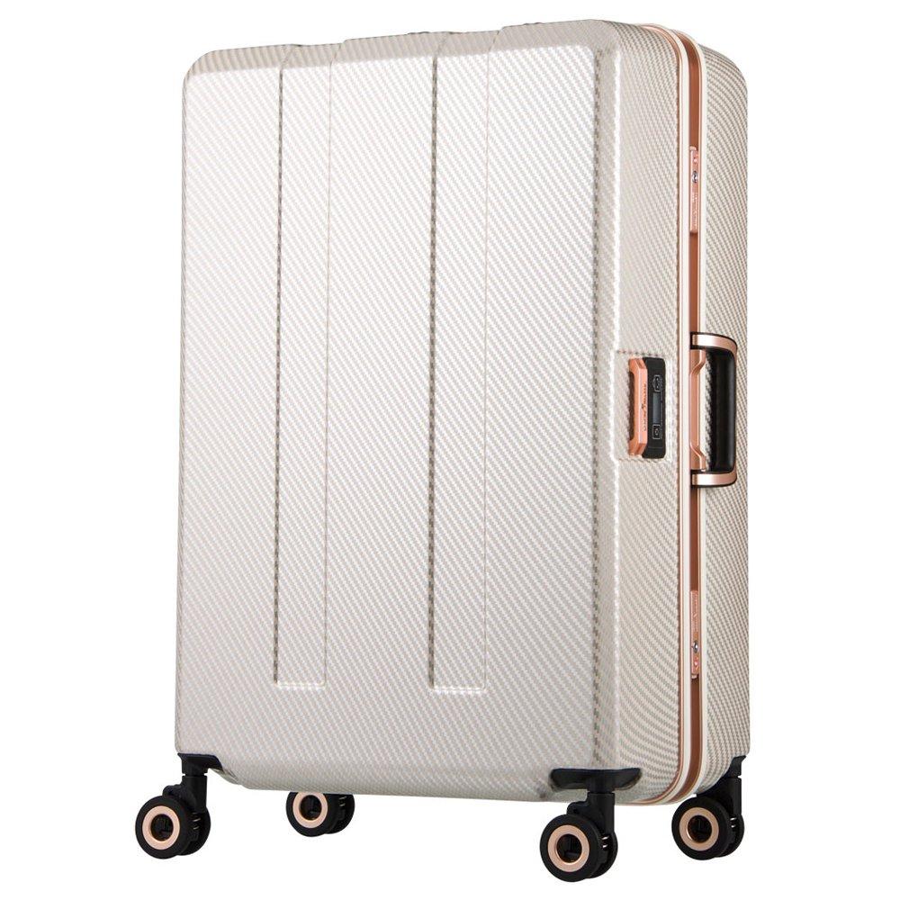 日本 LEGEND WALKER 6703N-64-26吋 寶貝輪秤重箱 碳纖珍珠白