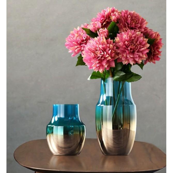 電鍍炫彩透明 玻璃花瓶擺件 創意客廳電視櫃餐桌花器擺設 裝飾品 玻璃擺設 - b款