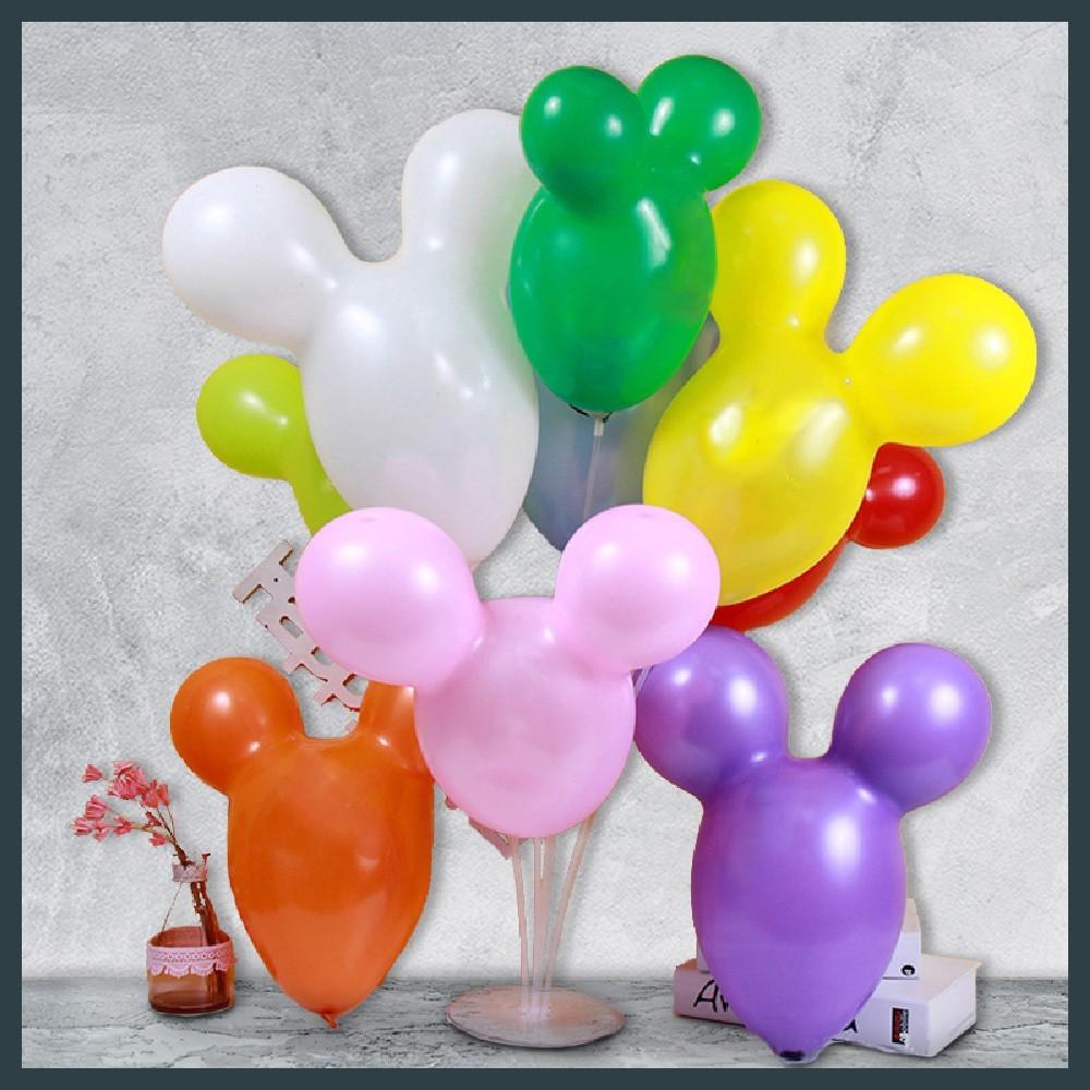 現貨米老鼠氣球 圓耳兔 100入 乳膠 造型氣球 玩具 兒童教具 裝飾佈置 青蛙 巧虎 熊大氣