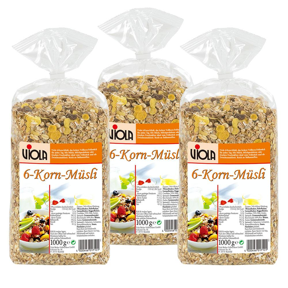 【德國百年品牌穀片】Viola 麥維樂綜合穀粒穀片*3入