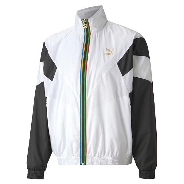PUMA TFS WORLDHOOD 白色運動休閒撞色風衣外套-No.59761002