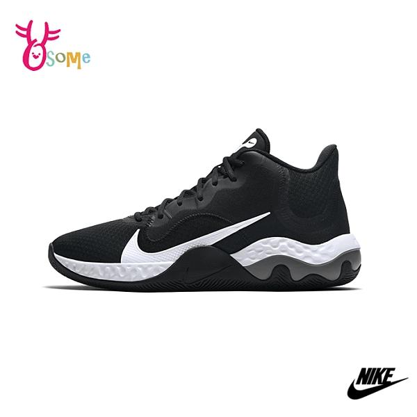 NIKE籃球鞋 男女鞋 高筒籃球鞋 運動鞋 避震 情侶 RENEW ELEVATE Q7009#黑色◆OSOME奧森鞋業