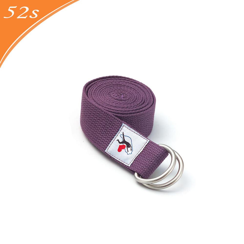 52s 舒活瑜珈伸展帶200cm (紫色)
