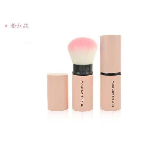 愛來客 make-up for you便攜款化妝刷伸縮刷 散粉刷 腮紅刷 蜜粉刷 粉紅及紫色款2