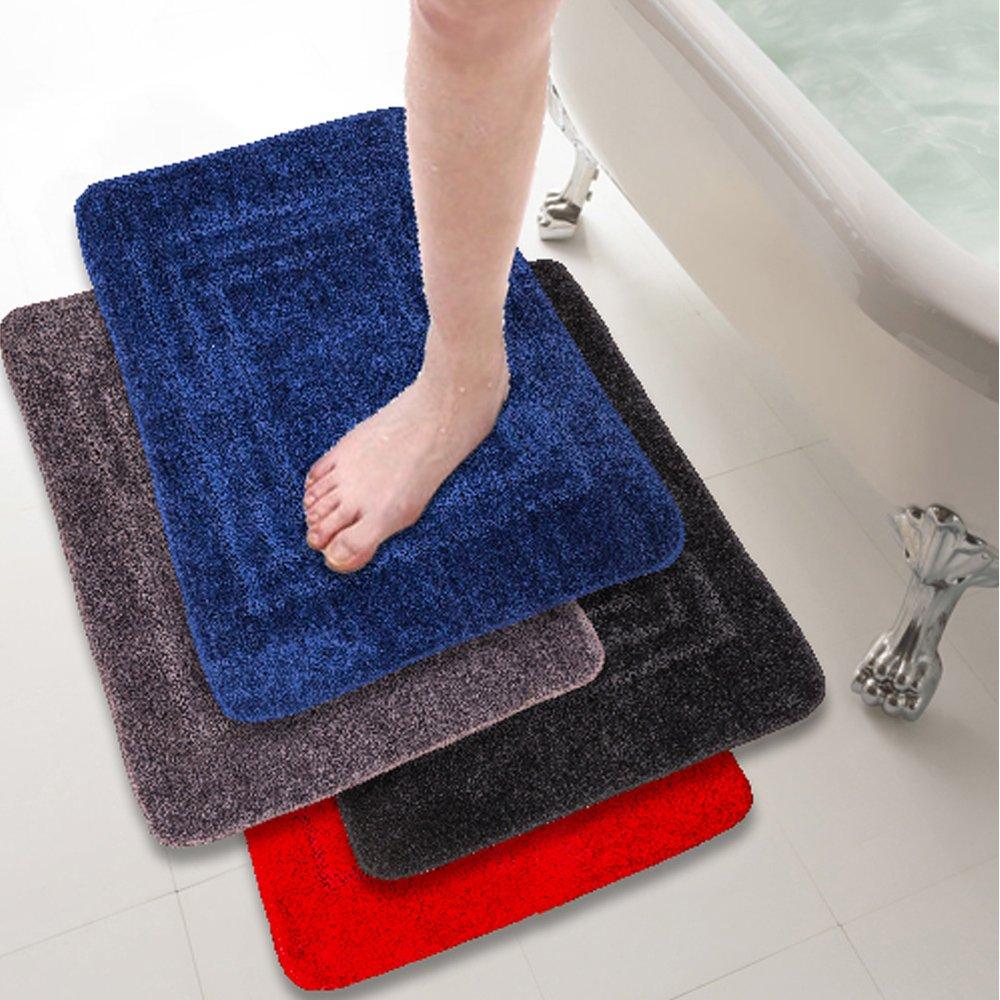 【格藍傢飾】超纖柔立體壓紋吸水防滑踏墊2入(四款可選)