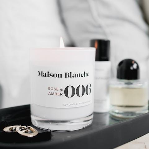 【澳洲Maison Blanche】手工大豆蠟系列-玫瑰&琥珀14oz