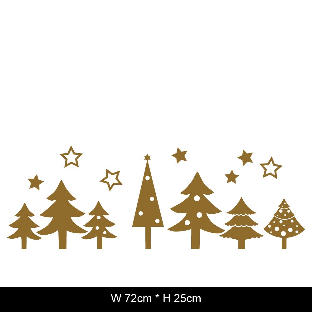 DecoWall™ 圖像壁貼 ◆ 聖誕窗花 聖誕樹
