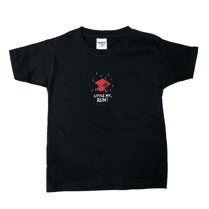 Moomin嚕嚕米授權-短袖T恤【小不點!快跑】(黑、粉、果綠) ,AE71