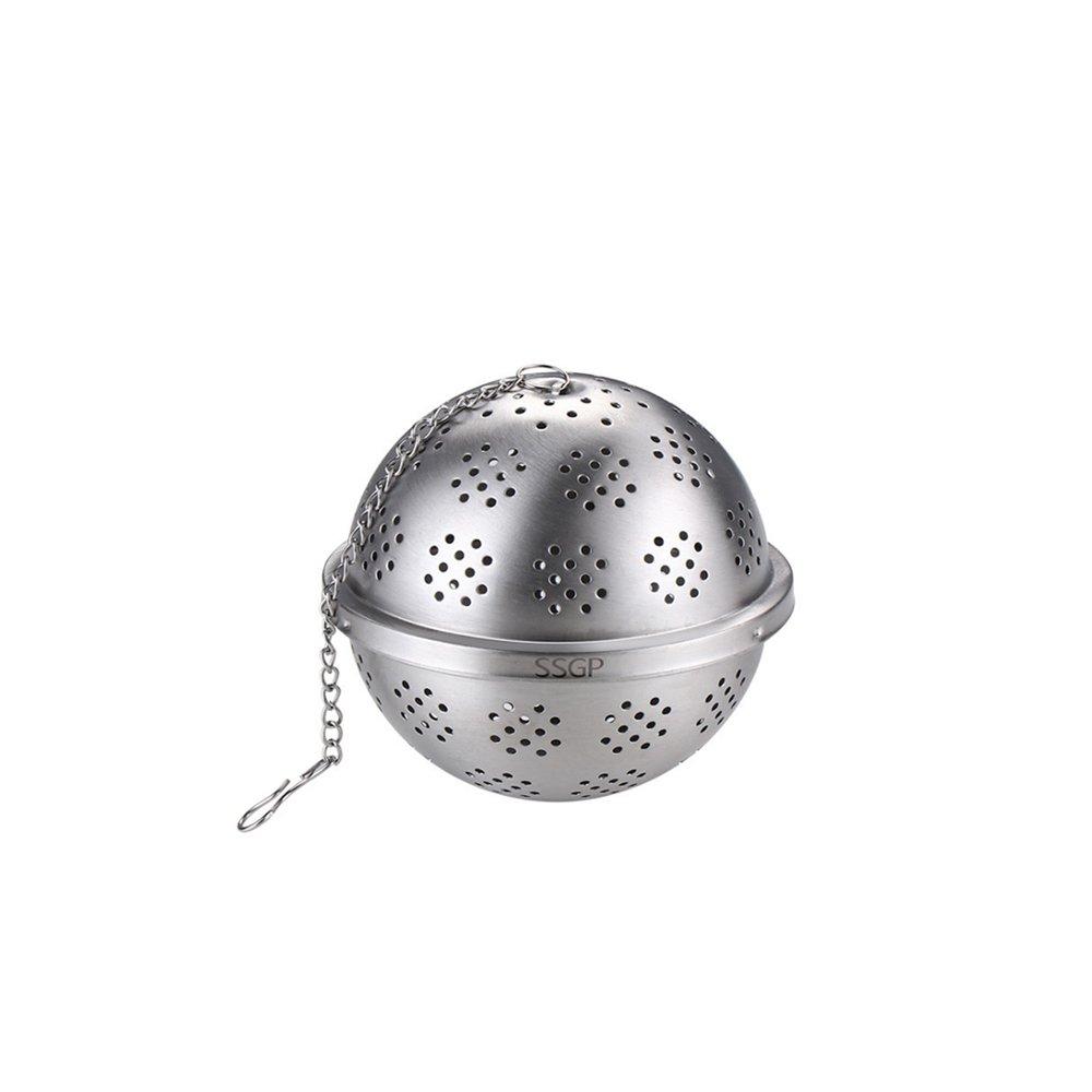PUSH!廚房用品304不鏽鋼調料球泡茶茶隔滷水過濾網香料包煲湯過濾球D193-1中號二入