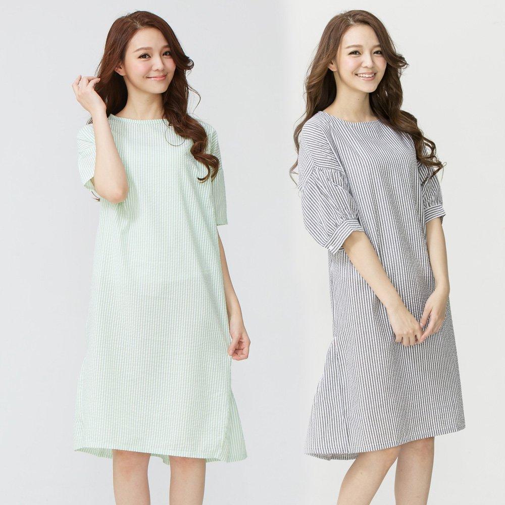 Wonderland 輕甜風味純棉居家休閒洋裝(2件組)