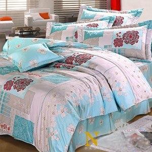 【Novaya‧諾曼亞】《芬柯園》絲光綿特大雙人三件式床包組