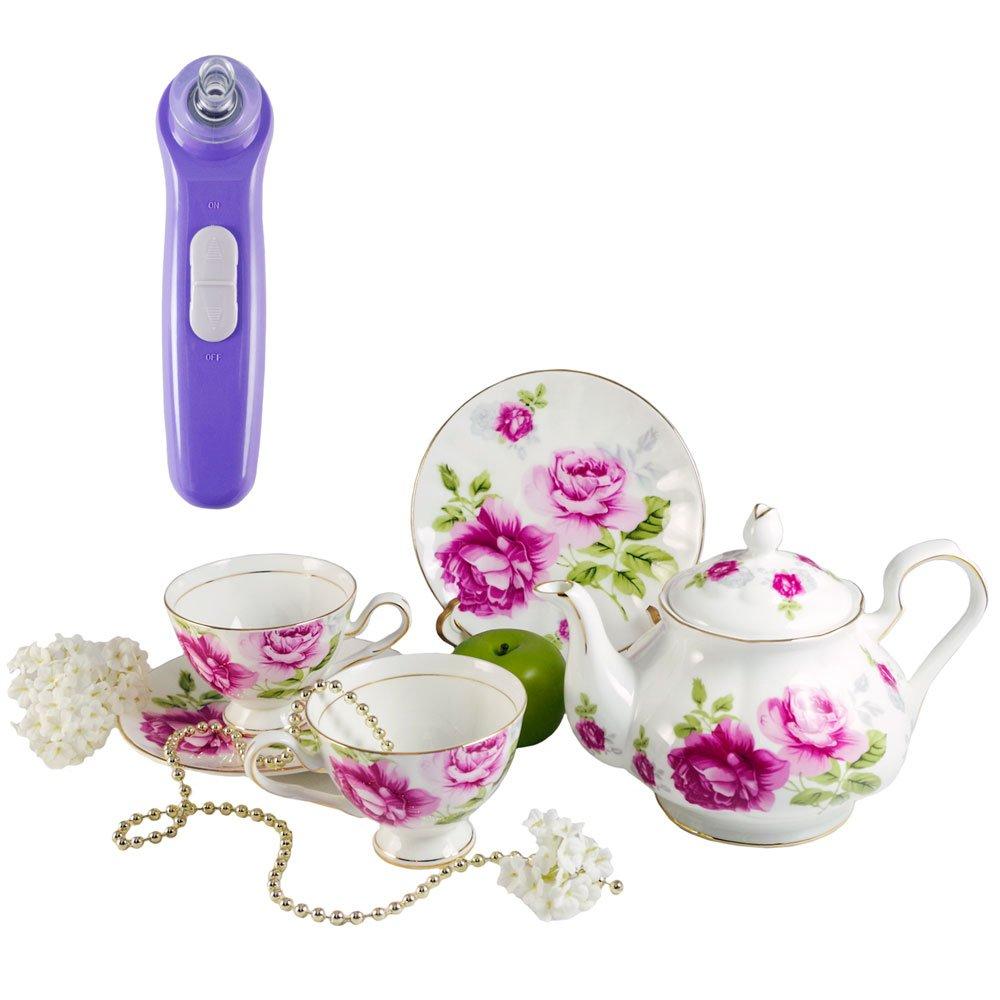 寵愛女人-姊妹午茶滔心話/G&W秘密花園午茶組含1壺+2杯2盤+限量贈-黑頭粉刺清潔機