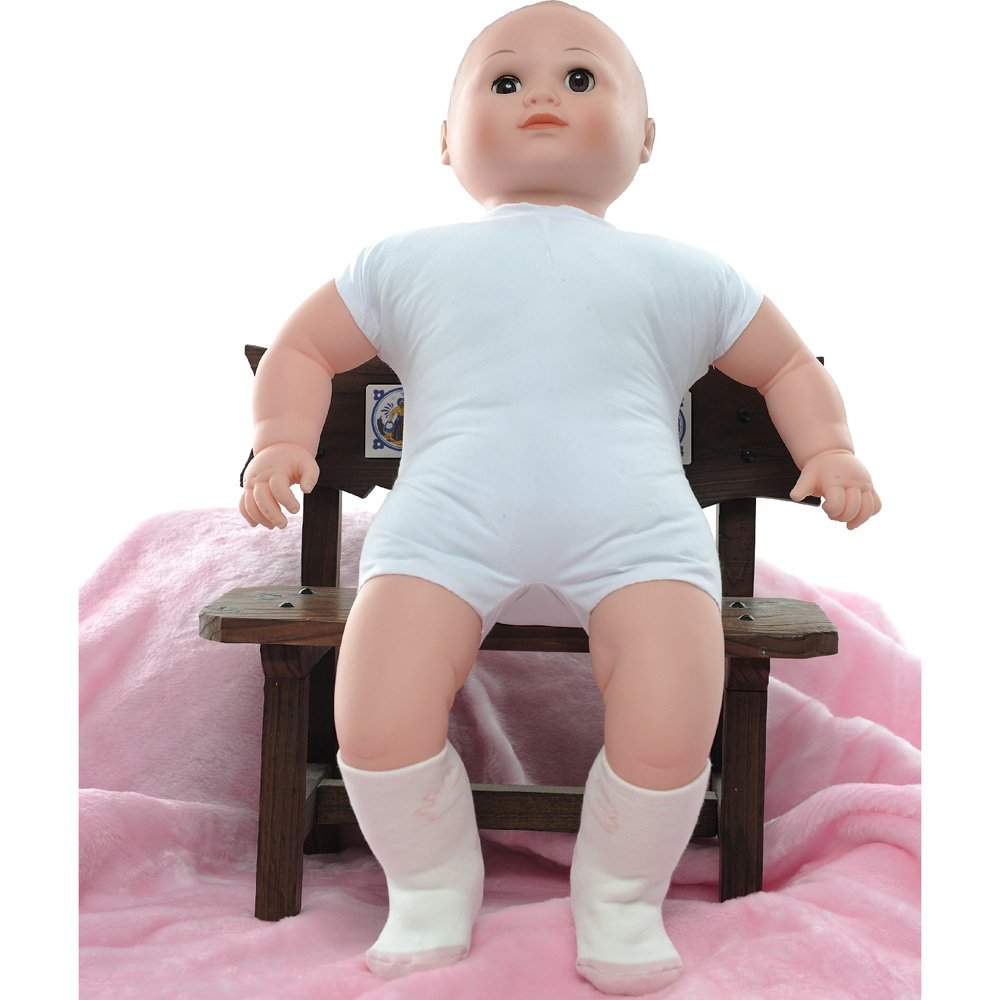 【KEROPPA】可諾帕MIT0~6個月嬰兒厚底止滑1/2短襪x3雙(白配淺紅)95001-D