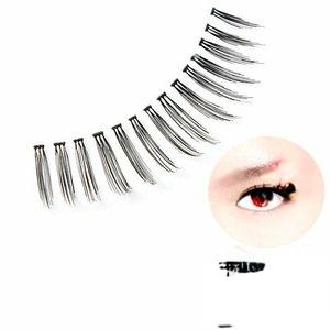 耀眼美人輕柔假睫毛天然髮絲透明梗#I02秘密