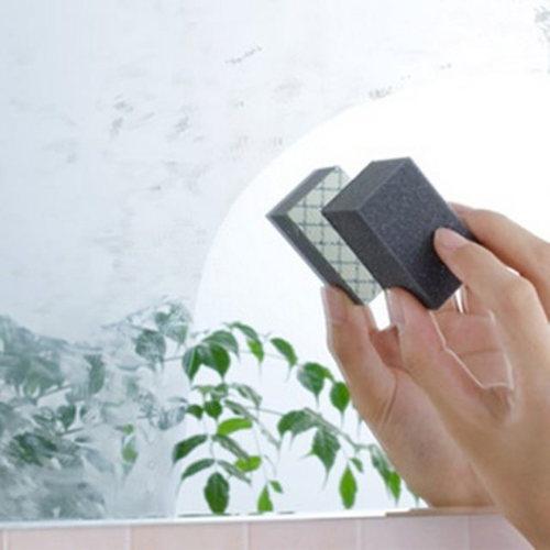 【Aimedia 艾美迪雅】玻璃清潔 鏡子水痕橡皮擦-鑽石的力量