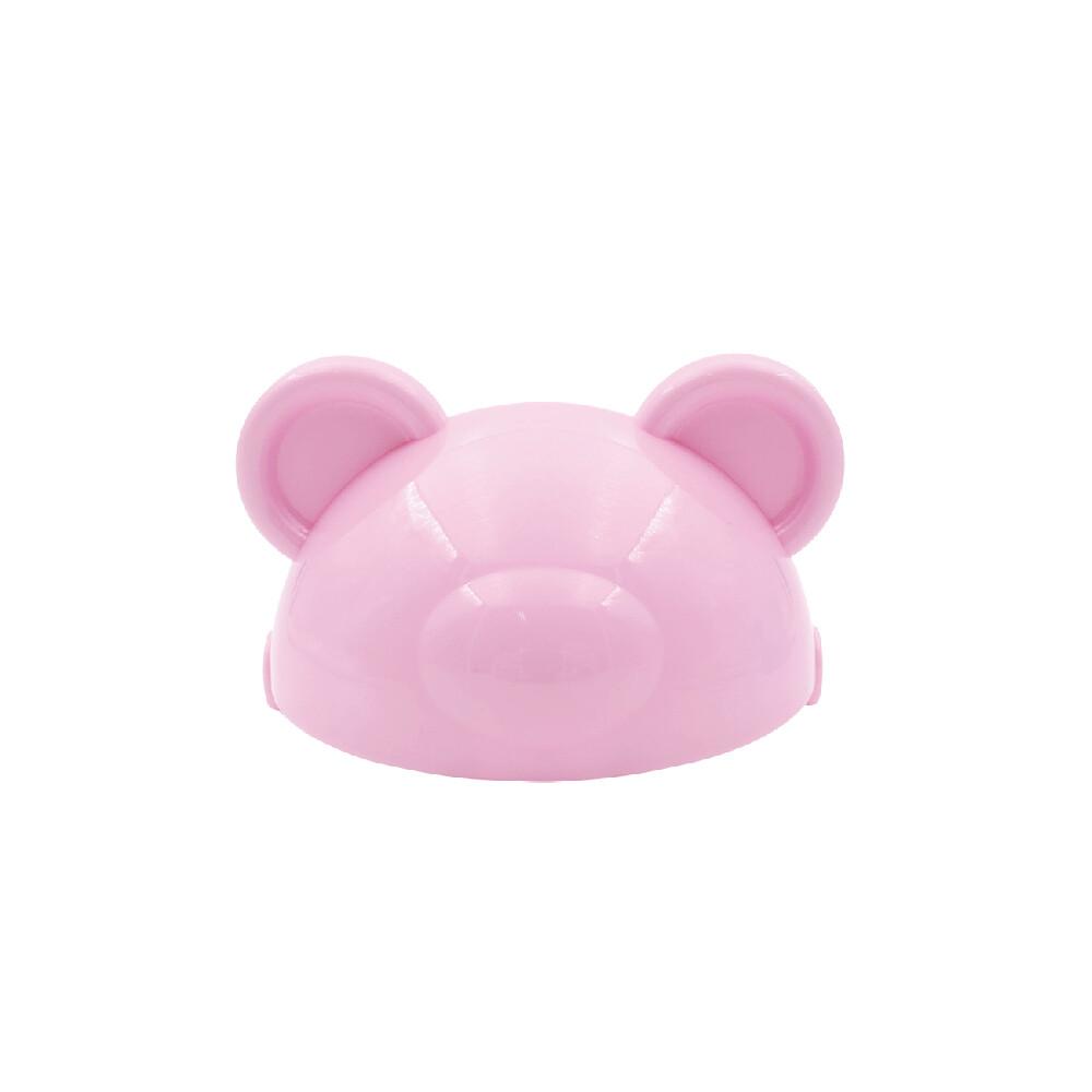 韓製happylandtritan防脹氣果汁杯配件-熊熊頭蓋片(粉紅)
