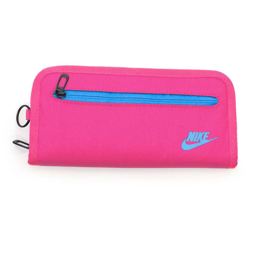 NIKE 手拿包-手機包 手提包 長夾 螢光粉紫