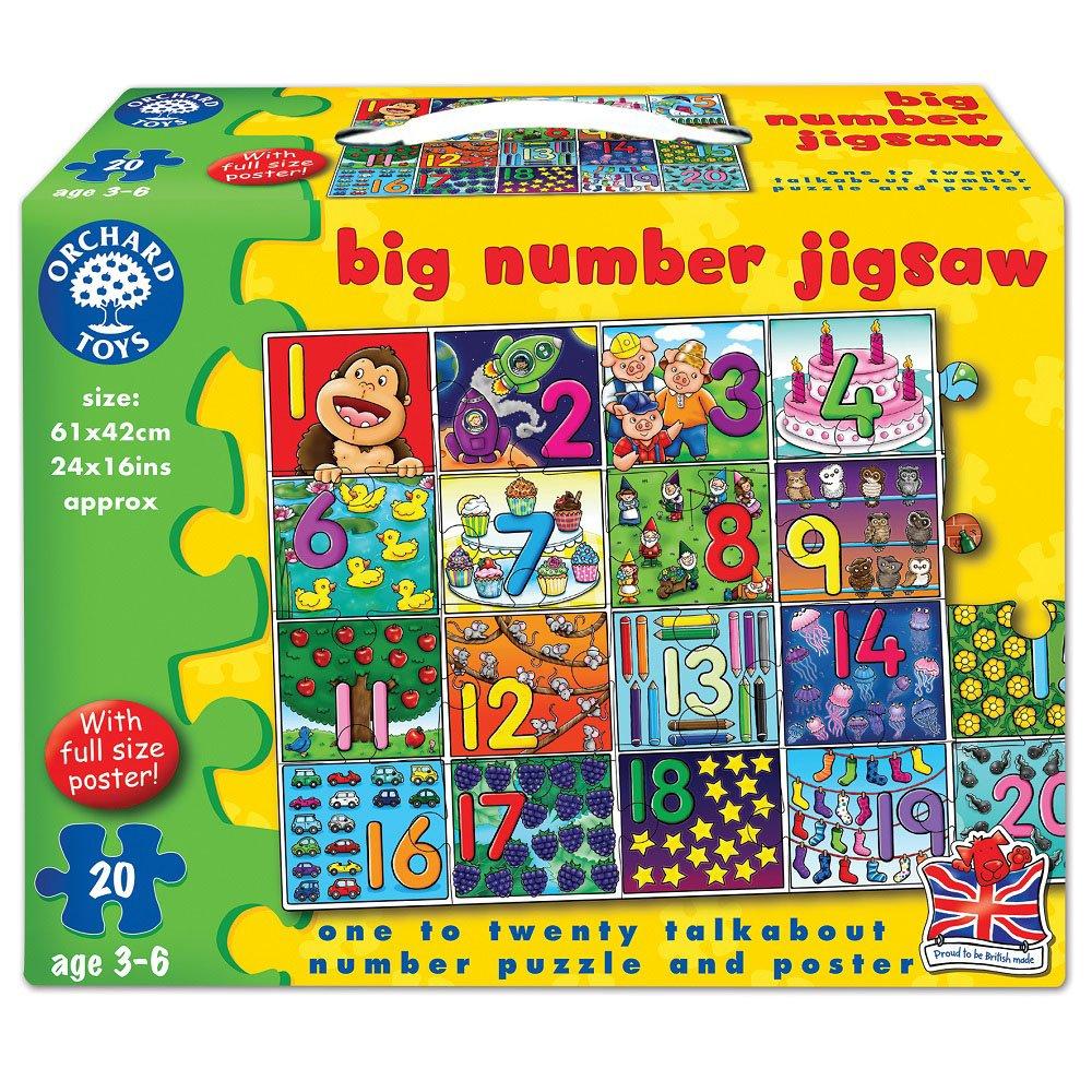 【英國Orchard Toys】遊戲拼圖-數字認知