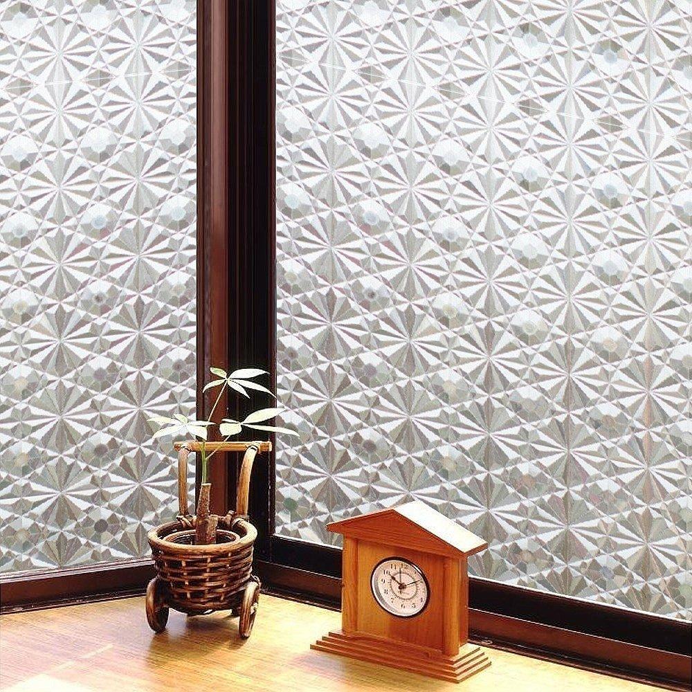 日本MEIWA 節能抗UV靜電3D窗貼 (萬花齊放) - 46x200公分