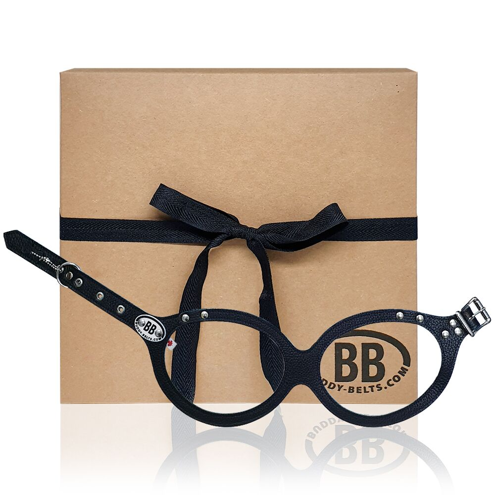 【Buddy Belts】加拿大手工真皮胸背帶-黑色-7號