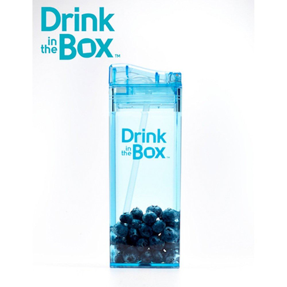 加拿大Drink in the box 兒童方形吸管杯(355ml)-天空藍