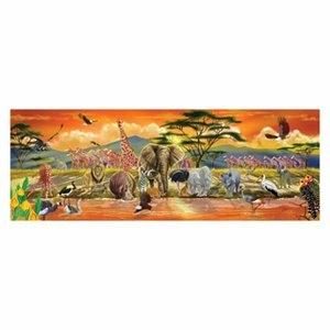 美國瑪莉莎 Melissa & Doug 大型地板拼圖 - 非洲草原【100 片】