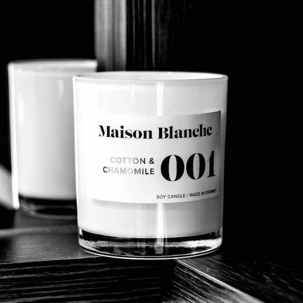 【澳洲Maison Blanche】手工大豆蠟系列-棉花&洋甘菊14oz