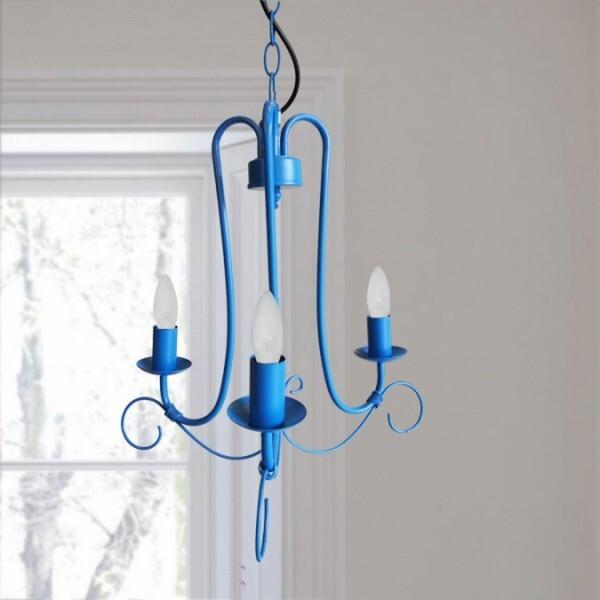 18park-鄉村風吊燈 [藍色,全電壓]