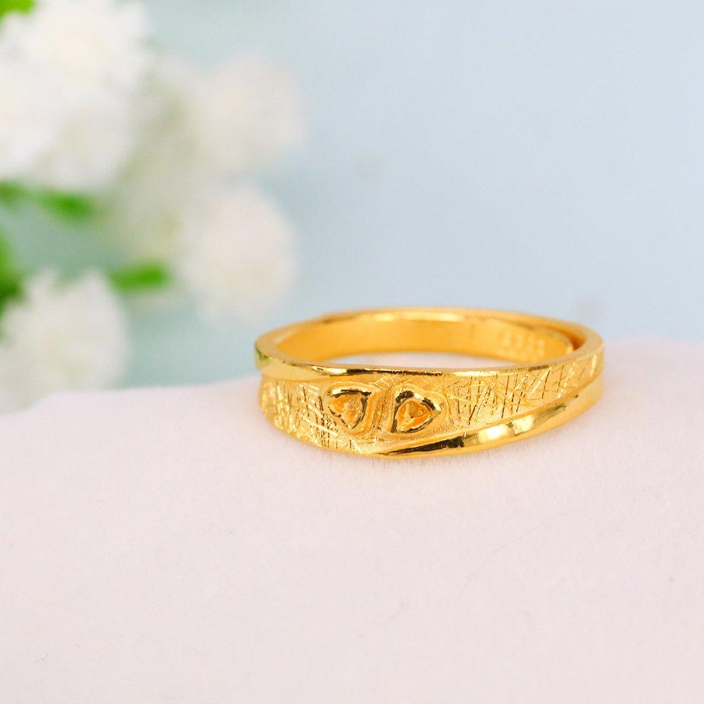 甜蜜約定金飾-呼應-黃金戒指(女)