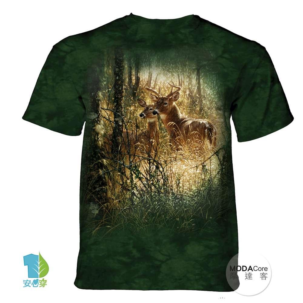 摩達客-(預購)美國進口The Mountain 金色鹿時刻 純棉環保藝術中性短袖T恤