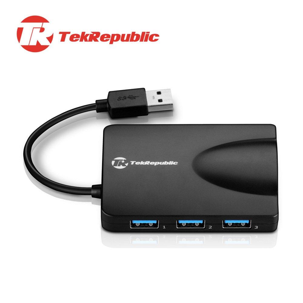 TekRepublic TUN-310 USB 3.0 2合1集線器+超高速網卡