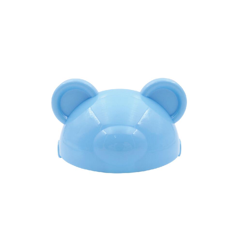 韓製happylandtritan防脹氣果汁杯配件-熊熊頭蓋片(藍)