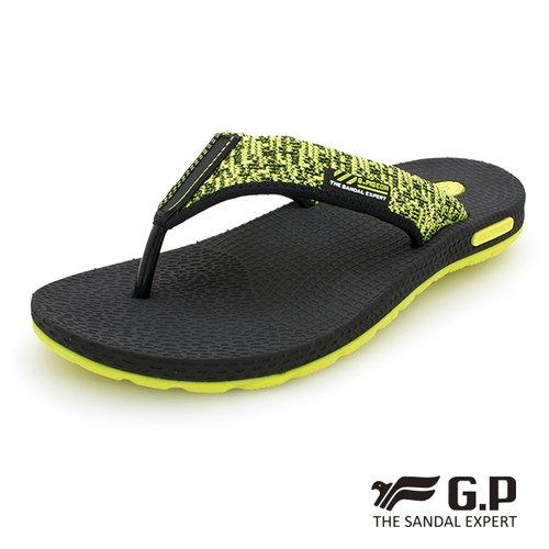 【G.P 男款和風輕量織帶人字拖鞋】G9032M-60 綠色 (SIZE:39-44 共三色)