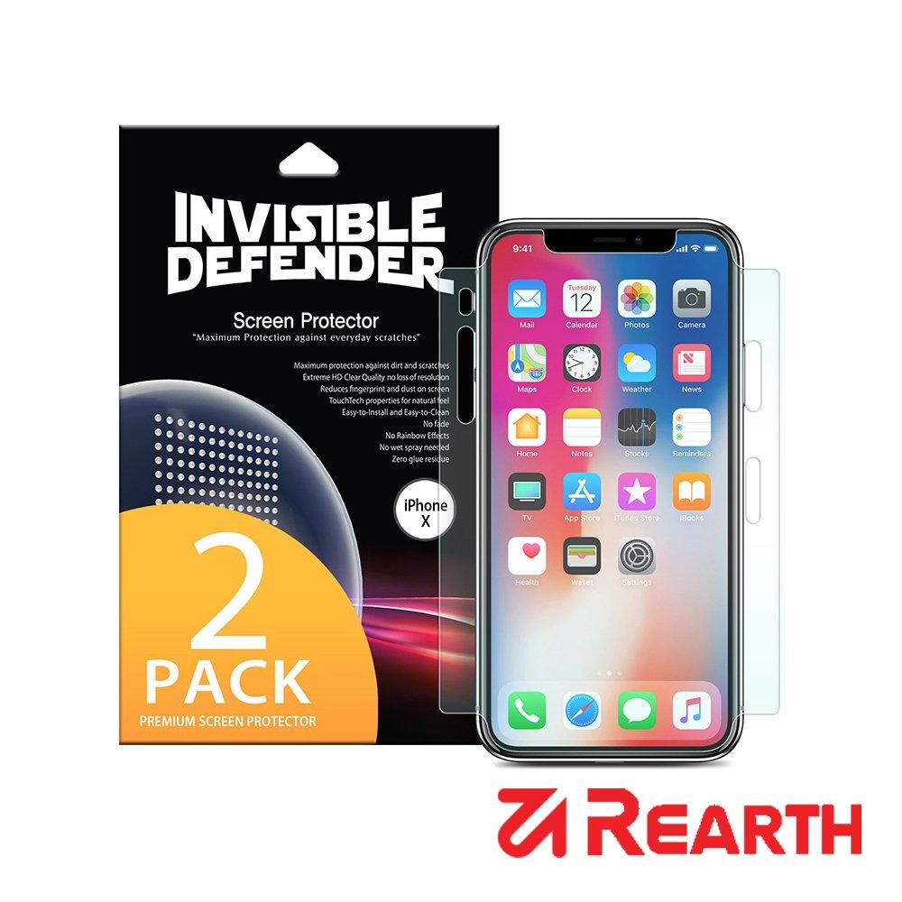 Rearth Apple iPhone Xs 滿版高透光螢幕保護貼(兩片裝)