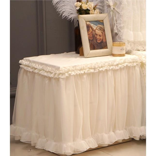 好夢連連床頭櫃罩 床頭櫃蓋布套子防塵罩奶油玫瑰