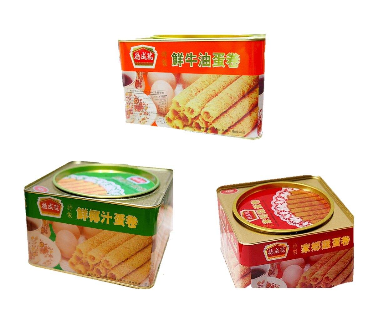 現貨+預購 香港 德成號蛋捲/鮮牛油、椰汁雞蛋捲[FIFI SHOP]