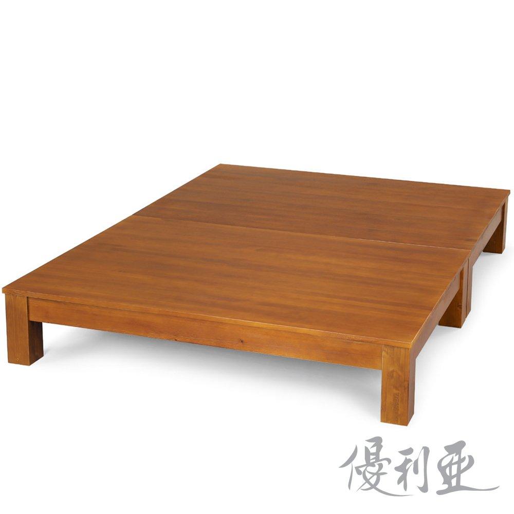 【優利亞-克莉絲淺胡桃色】雙人5尺實木床底