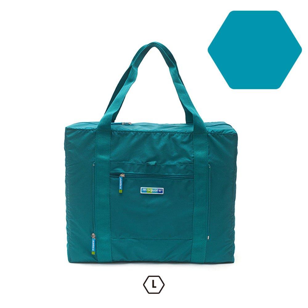 m square商旅系列Ⅱ尼龍折疊旅行購物袋L-湖水藍