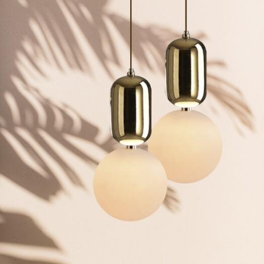 18park-逗號吊燈 [不含燈泡,全電壓,18cm,金色]