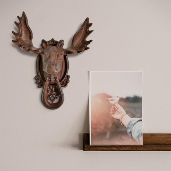 18park-鏽鐵-麋鹿頭掛飾-3款 [鐵鏽色,環]