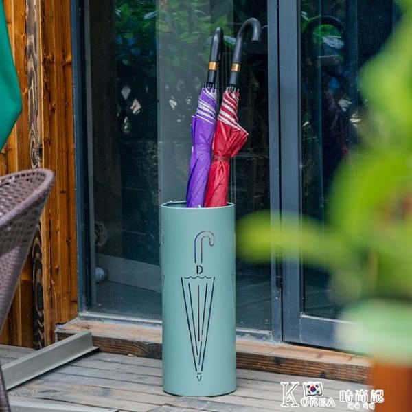 雨傘架-漫麗莎北歐創意金屬雨傘架家用門廳雨傘桶防水雨傘收納架激光雕刻