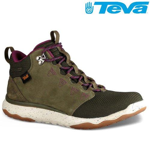 TEVA 《女款》超輕量科技大底中筒防水健走登山鞋 ARROWOOD MID WP - 橄欖綠